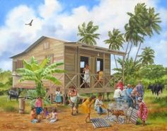 ☀ Puerto Rico ☀estampa jibara...idealized country life in PR