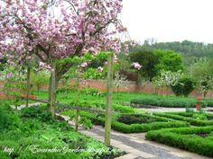 English Vegetable Garden with lavender hedges | ewainthegarden.blogspot.com