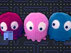 How to make Pacman and Pacman Ghost plush toys