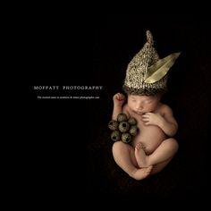 Cute Gumnut baby boy by Moffatt Photography