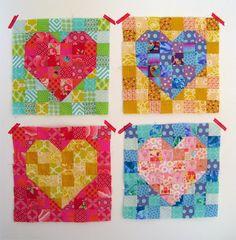 Heart quilt blocks | The Red Thread quilt heart, heart quilt blocks, quilt inspir, heart quilts