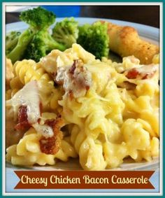 Cheesy Chicken Bacon Casserole! Just by changing the pasta to rice pasta this will work :)  Can't wait to try it tonight for supper!!