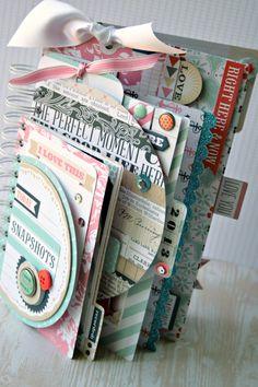 #papercraft #Scrapbook  *Teresa Collins* Snapshots of today #minialbum - Scrapbook.com