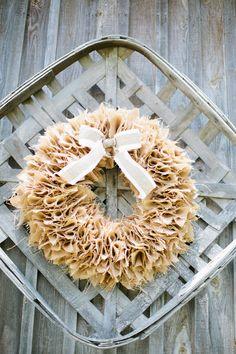 Amazing burlap wreath (Photo by Keepsake Memories Photography)