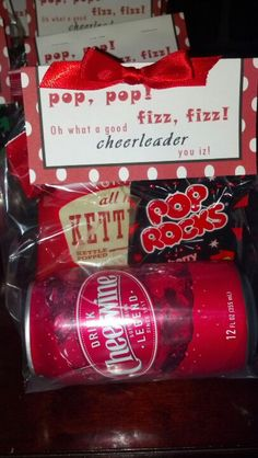 Made this for cheer team goodie bags. #cheer_gift. Cute!