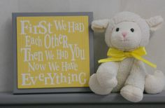 Yellow and Gray Nursery Wall Decor Grey Wall Sign  by NelsonsGifts, $15.95