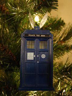 Doctor Who Tardis Christmas Tree Ornament. $7.95, via Etsy. Angela's future tree.