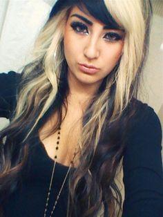 hair colors, black hair, blonde highlights, blondes, brunette hair, beauti, hairstyl, allison green, hair idea