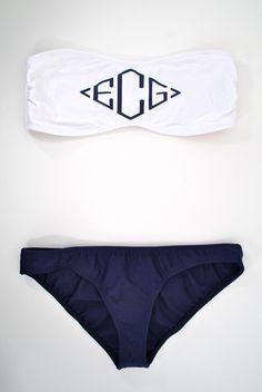 Love this monogrammed swimwear