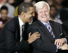 laughing with Ted Kennedy old keys, ted kennedi, health insurance, health care, famili, care bill, presid obama, key point, senat kennedi