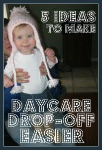 5 ideas to make daycare dropoff easier. #1 is bringing a familiar lovey from home!
