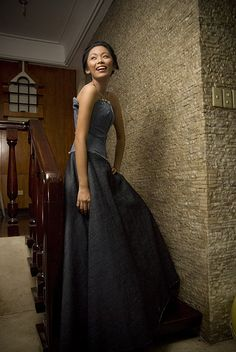 Check out this all maong (jeans) dress worn by my inaanak on oher debut. 8-)