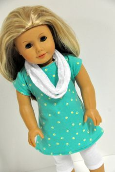 American Girl Doll Clothes Stylish Mint Green  by CircleCSewing,