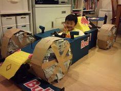 cardboard boxes, son, box car