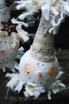 how to make these cute snowmen