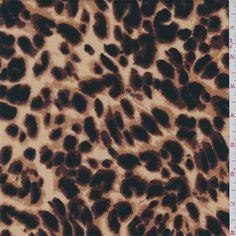 Tan Cheetah Print Ponte Double Knit