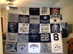 Dallas Cowboy T Shirt quilt.. Made by me Lisa Melendez