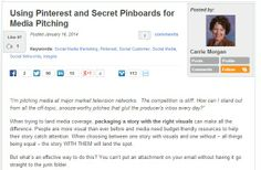 Using Pinterest and Secret Pinboards for Media Pitching