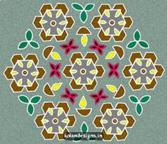 Picture: Flower Kolam With Dots