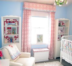 curtains out of sheets and tape trip on insides of bookcases... adorable and thrifty