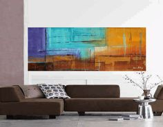 original 72  abstract single canvas  large by jolinaanthony, $369.00