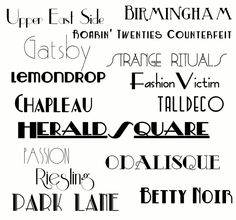 great fonts for 20's photo booth prints  #photobooth