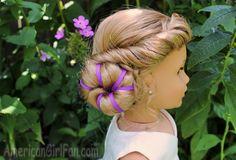 Doll Hairstyle: Disney Inspired Elsa Coronation Bun!