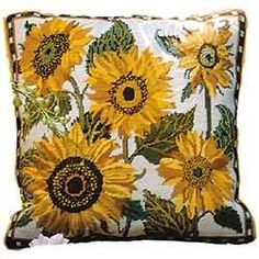 Sunflower Dance Tapestry Pillow