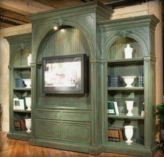 hidden murphy bed-could use in a stu dy for extra guests color, murphy beds, bed designs, cabinet, murphi bed, media rooms, entertain center, medium, entertainment centers