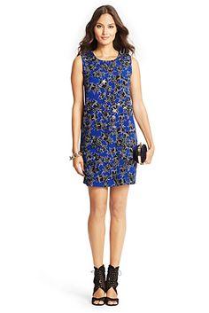 Star Embellished Shift Dress In Twinkle Cobalt