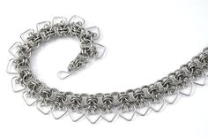 Hearts of steel chainmail choker necklace by TralalaLTD on Etsy, £60.00