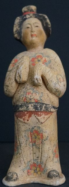 Chinese Tang Dynasty Terracotta lady http://goldentriangleantiques.com