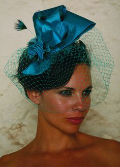 how to make a fascinator - Google Search  I love the idea of a bow and some netting.  This isn't quite right, but gives an idea.