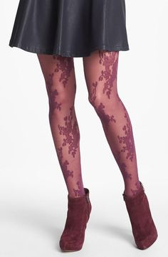 Floral patterned tights.