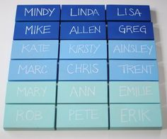 Ombre Place Card Blocks