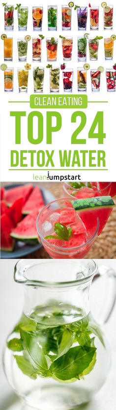 24 detox water recipes: fruit infused drinks for weight loss