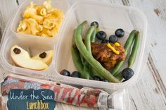 Under Sea Lunchbox  | packed in an #EasyLunchboxes container