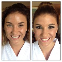 Before and after of bride Nikki