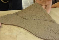Step-by-step Hand Building Clay Quilting Lesson