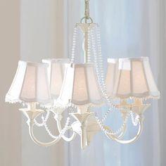 Vintage iron chandelier on PB Teen