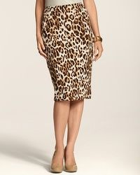 Outfit #1: Rory Animal Pencil Skirt #LoveChicos #WildAbout30 #StanduptoCancer #ParisianRomance