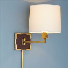 Mary McDonald Ostrich Leather Swing Arm Wall Sconce