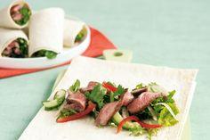 Thai beef salad wrap main image