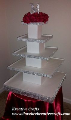 Wedding cupcake Tower. Cupcake and Cup cakes stand. This 5 tier cupcake stand can hold 125+ cupcakes. Kreative Crafts
