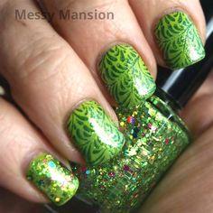 Peridot Green nails by messymansion - Nail Art Gallery nailartgallery.nailsmag.com by Nails Magazine www.nailsmag.com #nailart
