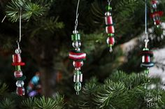 Bead Ornaments to make with Kids #kidscrafts #ornaments