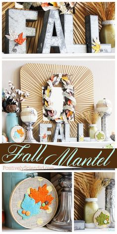 Lovely fall mantel decorations with so many fun DIY handmade projects! #MichaelsMakers