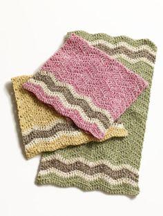 Free Crochet Pattern: Cottontail Dishtowels