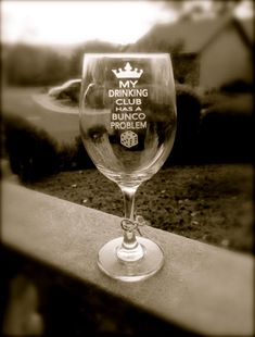 BUNCO wine glass Keep Calm and Bunco On Wine by EtchedExpressions, $12.00