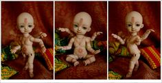 """custom mod of a Hujoo baby Ted doll.  Nice work.    from """"For the Love of Dremel"""" blog"""
